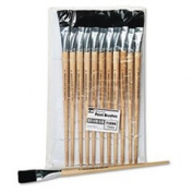 * Long Handle Easel Brush, Size 22, Natural Bristle, Flat, 12/Pack