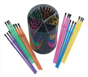 School Smart Plastic Paint Brush Set - Assorted Sizes - Pack of 144 - Assorted Colours