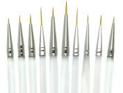 Aqualon Royal and Langnickel Short Handle Paint Brush Set, Detail, 10-Piece