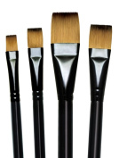 Majestic Royal and Langnickel Short Handle Paint Brush Set, Glaze Wash, 4-Piece
