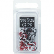 Painted Metal Dog Bone Paper Clips 15/Pkg-Red/White/Black