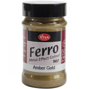 Viva Decor 90ml Ferro Metal Effect Textured Paint, Amber Gold