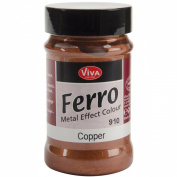 Viva Decor 90ml Ferro Metal Effect Textured Paint, Copper