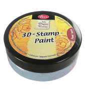 Viva Decor 119390236 3D Stamp Paint, Silver