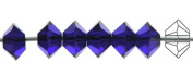 3x5mm Cobalt Blue, Czech MC Spacer Bead (Squished Bicone), 36 pieces