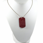Dog Tag Crimson Marauders Map Necklace 80cm Chain