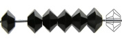 3x5mm Jet black, Czech MC Spacer Bead (Squished Bicone), 36 pieces
