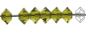 3x5mm Olivine, Czech MC Spacer Bead (Squished Bicone), 36 pieces