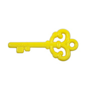 Colourful Acrylic Key Pendant Available in Mixed Colours for Crafting, Jewellery Making, & Decoration