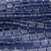 Czechmate 6mm Square Glass Czech Two Hole Tile Bead - Montana Blue