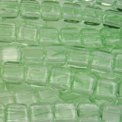 Czechmate 6mm Square Glass Czech Two Hole Tile Bead - Peridot