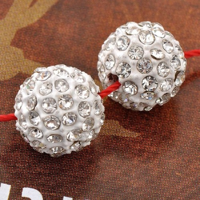 5pcs 10mm Clear Crystal Disco Ball Round Beads Jewellery Findings Rhinestone DIY
