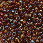 Toho Round Seed Beads 8/0 #177 'Transparent Rainbow Smoky Topaz' 8 Gramme Tube