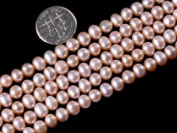 "5-6mm Varies Colours Freshwater Pearl Beads Strand 15"" Jewellery Making Beads"