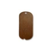 Vintaj Natural Brass Mini Dog Tag Pendant Charms 24mm