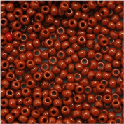 Toho Round Seed Beads 11/0 #46L 'Opaque Terra Cotta' 8 Gramme Tube