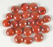 Electric Orange 12-15mm Glass Bead Tokens