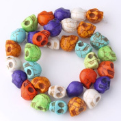 Mixed Carved Skull Howlite Turquoise Loose Beads Strand for Jewellery