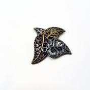 Mulit-Colour Filigree Leaf Beads