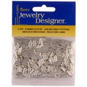 Darice Glass Bugle Beads silver 20 g