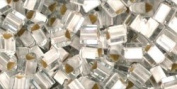 Silver-Lined Frosted Crystal TOHO Seed Beads TRIANGLE 8/0