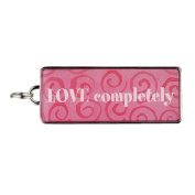 "Rectangle Word Charm - ""LOVE completely"""