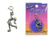 Koolcharmz Female Ice Skater Dangling Charm