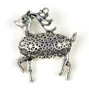Cute Sika Deer Silver Alloy Pendant for Diy Pt-554