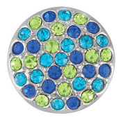 Ginger Snaps RITZY - BLUE/GREEN SN06-15 Interchangeable Jewellery Snap Accessory