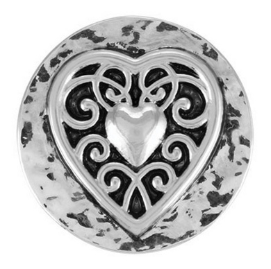 Ginger Snaps VINTAGE HEART SN01-01 Interchangeable Jewellery Snap Accessory