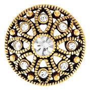 Ginger Snaps MAE FLOWER - CRYSTAL SNAP SN06-23 Interchangeable Jewellery Snap Accessory