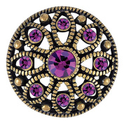 Ginger Snaps MAE FLOWER AMETHYST SNAP SN06-30 Interchangeable Jewellery Snap Accessory