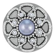 Ginger Snaps GREY LA PEARLA SN31-05 Interchangeable Jewellery Snap Accessory