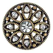 Ginger Snaps MAE FLOWER BLACK DIAMOND SNAP SN06-29 Interchangeable Jewellery Snap Accessory