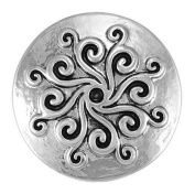 Ginger Snaps WHIRLYGIG - SILVER SN05-06 Interchangeable Jewellery Snap Accessory