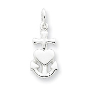 Sterling Silver Hope, Faith, and Charity Charm. Metal Wt- 0.6g