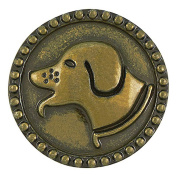 Ginger Snaps ANTIQUE BRASS HOUND DOG SNAP Interchangeable Jewellery Snap Accessory