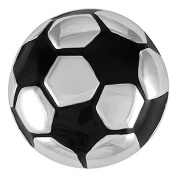 Ginger Snaps SOCCER BALL SNAP SN14-03 Interchangeable Jewellery Snap Accessory