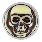 Ginger Snaps CARVED SKULL SNAP SN04-14 Interchangeable Jewellery Snap Accessory