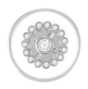 Ginger Snaps GIRLY GIRL - WHITE SN05-18 Interchangeable Jewellery Snap Accessory