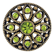 Ginger Snaps MAE FLOWER OLIVINE SNAP SN06-33 Interchangeable Jewellery Snap Accessory