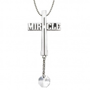 Message Cross Car Charm - Miracle