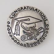 20 mm Metal Chunk Graduation Cap and Diploma for Chunk Snap Charm Bracelet