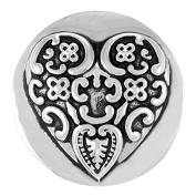 Ginger Snaps BAROQUE HEART SN01-07 Interchangeable Jewellery Snap Accessory
