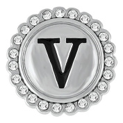 Ginger Snaps BLING V SN33-22 Interchangeable Jewellery Snap Accessory