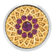 Ginger Snaps GOLD RUSH AMETHYST SN05-99 Interchangeable Jewellery Snap Accessory