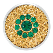 Ginger Snaps GOLD RUSH EMERALD SN05-97 Interchangeable Jewellery Snap Accessory
