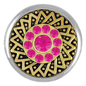 Ginger Snaps GOLD RUSH FUCHSIA SNAP SN05-96 Interchangeable Jewellery Snap Accessory