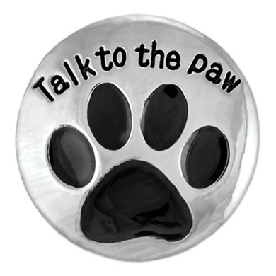 Ginger Snaps TALK TO THE PAW SN20-41 Interchangeable Jewellery Snap Accessory