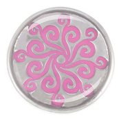 Ginger Snaps WHIRLYGIG - PINK SN05-27 Interchangeable Jewellery Snap Accessory
